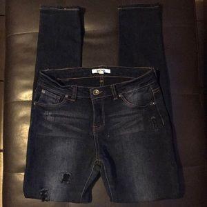 DKNY distressed dark jeans Size 14